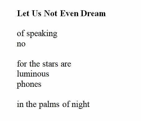 let us not even dream